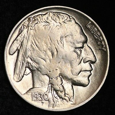 1930 Buffalo Nickel CHOICE BU FREE SHIPPING E260 AF