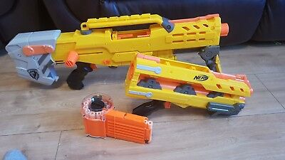 NERF LONGSHOT Strike CS-6 with Removable front barrel, round cartridge + ammo
