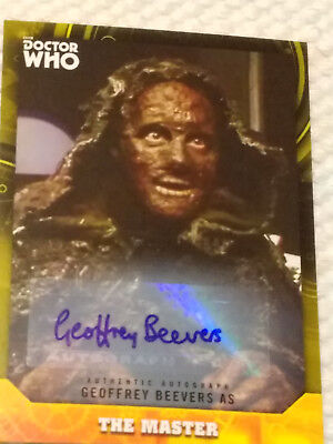 Doctor Who Signature autograph card GEOFFREY BEEVERS THE MASTER YELLOW 17/25