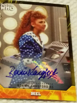 Doctor Who Signature autograph card BONNIE LANGFORD YELLOW 19/25