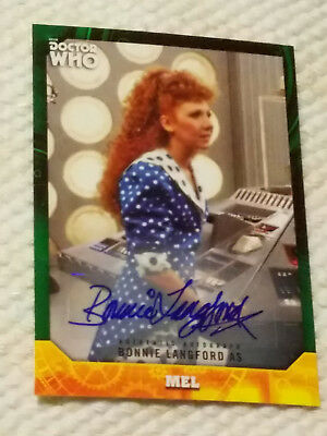 Doctor Who Signature autograph card BONNIE LANGFORD GREEN 37/50