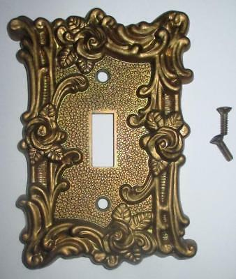 Vintage American Tack & Hardware Brass Light Switch Cover Plate #60T