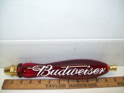 budweiser beer tap handle - heavy - 12 inch -