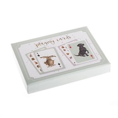 Wrendale Design Playing Card Gift Set - Two Desk The Country Set and Dogs Life