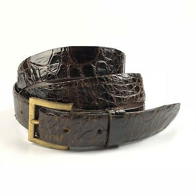 Antil Genuine Tortuga Tortoise Brown Leather Belt Size 40 Cowhide Lining Italy