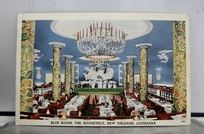 Louisiana LA New Orleans Roosevelt Blue Room Postcard Old Vintage Card View Post