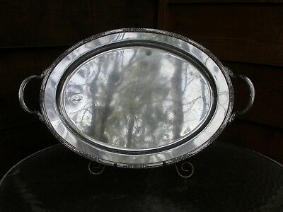 Large Oval Silver Plate Tray Camille International Silver