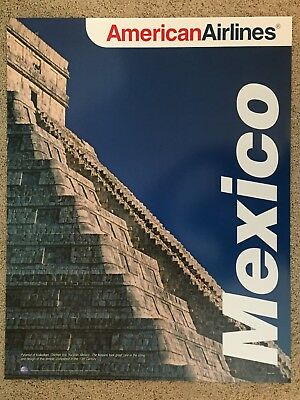 RETRO AMERICAN AIRLINES - MEXICO Travel poster - Mint Condition 7bb47408cba90