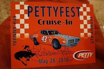 Richard Petty Autographed PETTYFEST Dash Plaque from 2016 Only a Few Left!