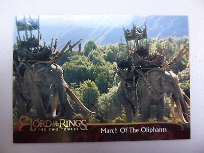 TOPPS Lord of the Rings: The Two Towers - Card #123 MARCH OF THE OLIPHANTS