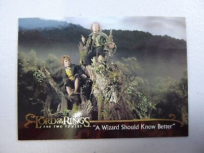 TOPPS Lord of the Rings: The Two Towers - Card #142 A WIZARD SHOULD KNOW BETTER