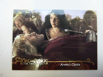 TOPPS Lord of the Rings: The Two Towers - Card #132 ARWEN'S CHOICE