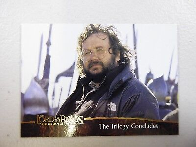 TOPPS Card : LOTR The Return Of The King  #78 THE TRILOGY CONCLUDES