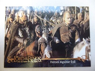 TOPPS Card : LOTR The Return Of The King  #159 HEROES AGAINST EVIL