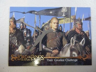 TOPPS Card : LOTR The Return Of The King  #72 THEIR GREATEST CHALLENGE