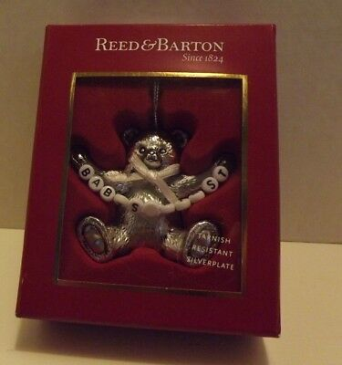 Reed & Barton Silver Plate Baby's First Christmas Ornament