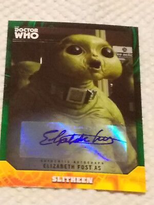 Doctor Who Signature Series autograph card SLITHEEN GREEN #1/50