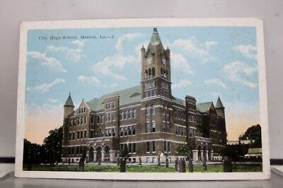 Louisiana LA High School Monroe Postcard Old Vintage Card View Standard Souvenir