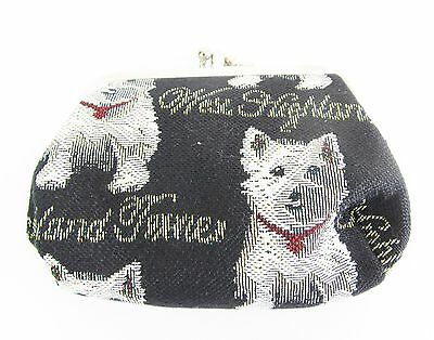 Signare West Highland Terrier Double Section Tapestry Coin Purse