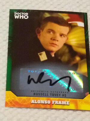 Doctor Who Signature Series autograph card RUSSELL TOVEY GREEN #11/50