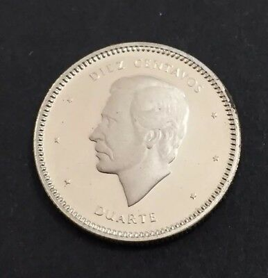 Dominican Republic 1986 10 Cents Proof Coin