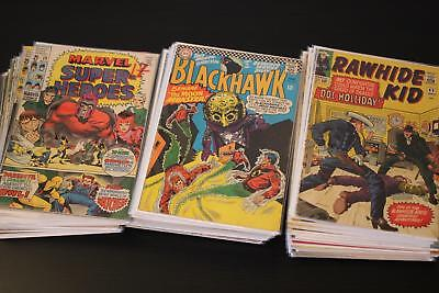 Huge Lot of 60 Silver and Bronze Age Marvel, DC and Gold Key Comic Books