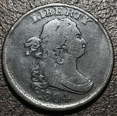 1804 Crosslet 4 Stems Half Cent