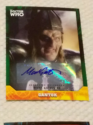 Doctor Who Signature Series autograph card MARK GATISS GREEN #40/50