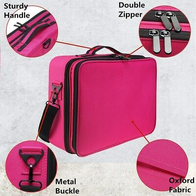 Professional Makeup Bag Portable Cosmetic Case Storage Box Handle Organizer