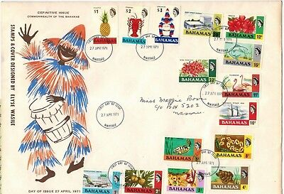 Bahamas definitives set of 1971st, FDC