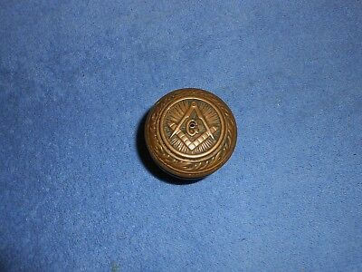 Antique Masonic Free Masons Brass Door Knob Vintage Door Handle Masonic