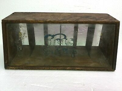 Scarce Vintage 1920s Counter Top GETS Spark Plug Display Cabinet Point Of Sale