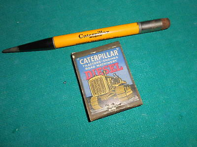 VINTAGE VIRGINIA TRACTOR CO. CAT Mech. Pencil & Old CAT Matchbook cover Iowa