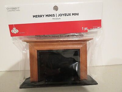 Dollhouse Merry Minis Brand1:12 Scale Wood Fireplace, NIB