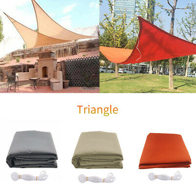 """Waterproof Sun Shade Sail Patio Outdoor Canopy UV Block Top Cover Triangle 9.8"""""""