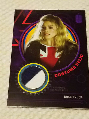 Doctor Who Extraterrestrial costume PURPLE relic card ROSE TYLER 24/50