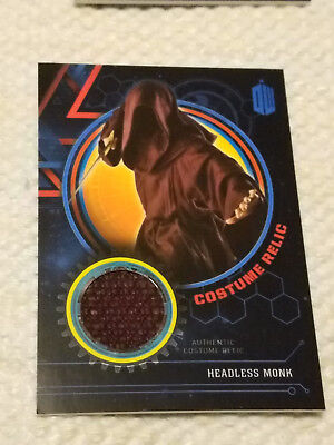 Doctor Who Extraterrestrial costume BLUE relic card HEADLESS MONK 67/99
