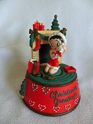 2003 Betty Boop Christmas Music Box with Movement