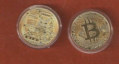 1 Gold Plated Bitcoin Collectable Gift Coin (Nice Collectable Gift)
