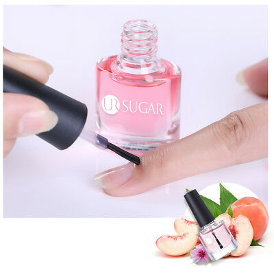 6ml UR SUGAR Nail Cuticle Oil Peach Flavor Nail Art Nutrition Care Manicure Tool