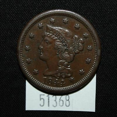 West Point Coins ~ 1844 Large Cent XF