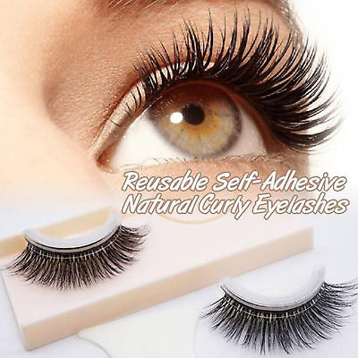 New Arrival 1 pair of Reusable Self-Adhesive Natural Curly Eyelashes Extension