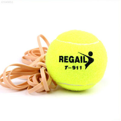 F637 Tennis Ball With String Rope Trainer Training Sports Vanilla Green Universa