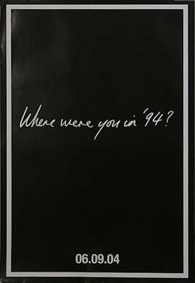 Oasis (UK) Where Were You In '94 ? UK poster promo INSTORE POSTER BIG BROTHER