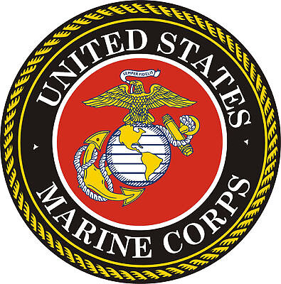 United States Marine Corp Decal 3M Sticker Us Made Vehicle Car Truck Window Wall