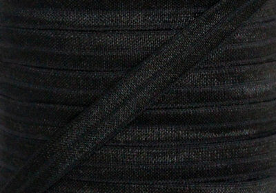 1m FOE black, fold over elastic FREE POST, headbands, hair ties, aussie seller