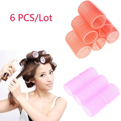 6Pcs/Set Self Grip Hair Rollers Cling Any Size DIY Hair Curlers Beauty Tool HOT