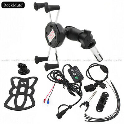 GPS/Mobile Phone Holder Mount/USB Charger For Honda VFR800F CBR 600 F4I CBR600RR