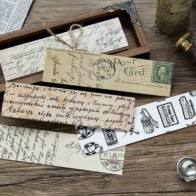 30pcs/box Retro Collection Bookmark Paper Cartoon Bookmark School Stationery