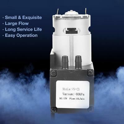 VN-C3 DC12V 12W Mini Small Oilless Vacuum Pump -80KPa Flow 10L/min for Gas New